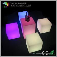 LED Cube Glowing table de chaise d'extérieur