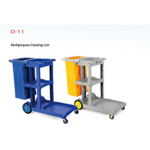 Multipurpose Cleaning Cart, Plastic Hand Push Cleaning Cart suitable for hotel restaurant school and so on