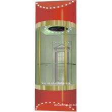 Cabina de ascensor panorámica (TKJ-SEE-CO25)