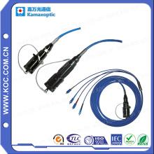 Conector militar blindado de fibra óptica para redes FTTX