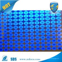 Специальная наклейка с голограммой с печатью с УФ-чернилами