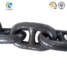 Marino U2 / U3 cadena de ancla de eslabón pintado negro
