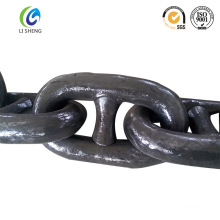 Marine U2/U3 black painted stud link anchor chain
