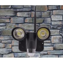 melhor WIFI CFTV pir alarme escondido vídeo Cam levou luzes câmeras de vigilância