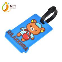 Animal design Custom Cute Leather Bus silicone ID card holder