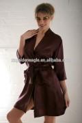 Chocolate Unisex Silk Pajamas Robes High-end Silk Bathrobe Pajamas