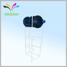 Support d'usine en métal métallisé 4 niveaux Écran de bouteille d'eau Rack