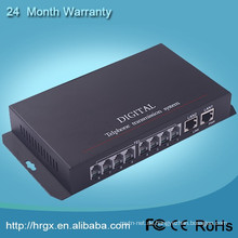 Telephone communication voice converter fiber optic to RJ11 PCM multiplexer, Telephone optical transmitter