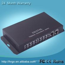 Fibre optique de convertisseur de voix de communication téléphonique au multiplexeur RJ11 PCM, émetteur optique de téléphone