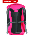 Tarpaulin Waterproof Backpack: 500D PVC, 35L with Welded Seams, Reflective Trim, Padded Back Support