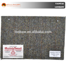 100% Wool Woolen Harris Tweed Coat Fabric