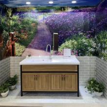 Custom-made aluminum bathroom cabinet