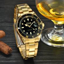 top 10 brands gold plated mechanical wrist watch
