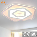 Quadrado acrílico contemporâneo montado LED iluminação de teto de cristal