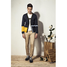 Classical V-Neck Assorted Colors Knit Men Cardigan with Button