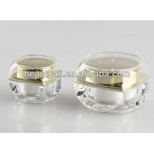 Novo estilo quadrado plástico creme cosméticos jar