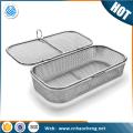 Metal 304 sterilization wire mesh storage basket for food service equipment