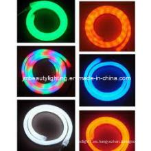 Cuerda de neón LED RGB con luz flexible para cuerda