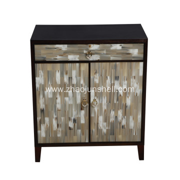 CANOSA 2016 New product OX horn inlaid wood Storage Cabinet living room furniture
