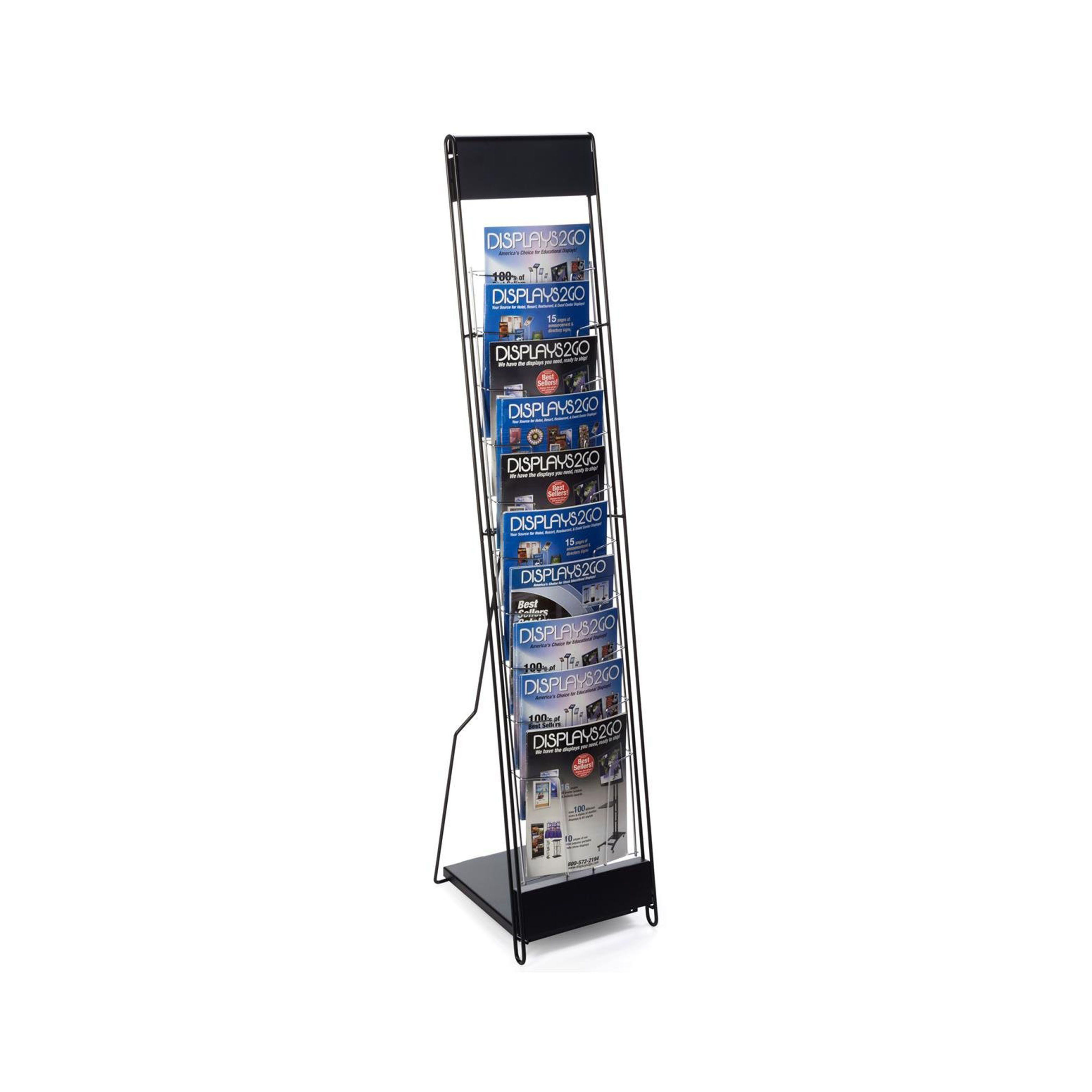 Floor Standing Portable Magazine Display Rack