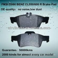 D986 OE QUALITY plaquette de frein à disque basse en métal pour BENZ CL / E / SL / S