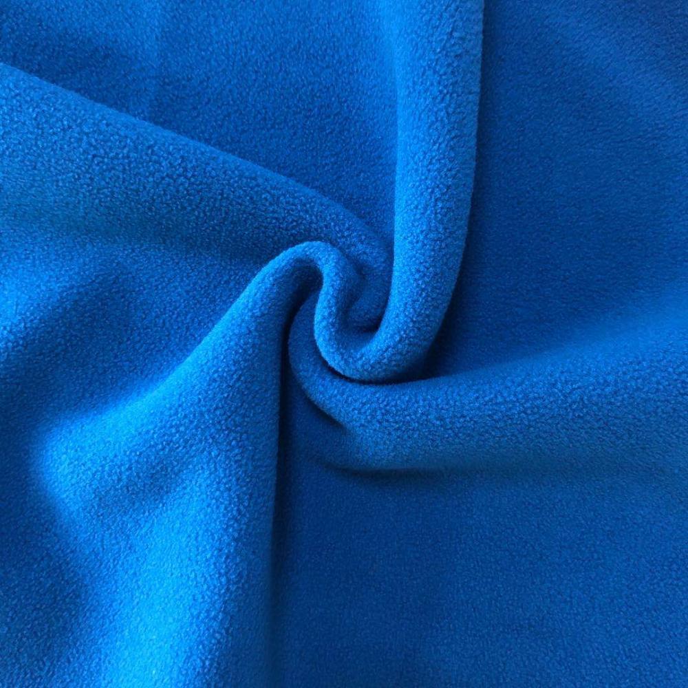 plain dyed solid bonded polar fleece fabric