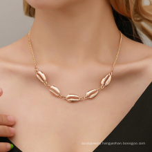 Bohemian personality and popular alloy shell necklace stylish simple and versatile