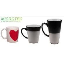 Caneca de sublimação para 17oz cor mudar a caneca de café com leite - preto