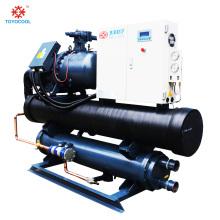 Enfriador evaporador industrial enfriado por agua con tornillo