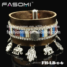 Fashionme neueste Echtleder mit Charme Magnetarmband