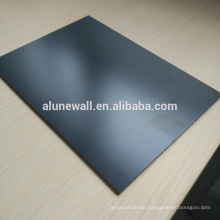 Brushed wall decoration Pvdf aluminum composite panel sheets