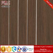 La fábrica de China suministra la baldosa cerámica de madera rústica del marrón oscuro para la tienda