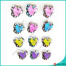 Mariposa colorida con diamantes de imitación diapositiva Charms Jewellery (SC16041902)