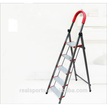 Five Step Folding Ladder Wide Step Pedals Domestic Aluminum Ladder