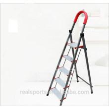 Escada de alumínio doméstica de cinco etapas da etapa larga da escada de dobradura da escada