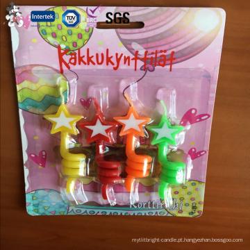 Novo estilo personalizado Eco-Friendly matérias-primas fontes carta velas cera de parafina