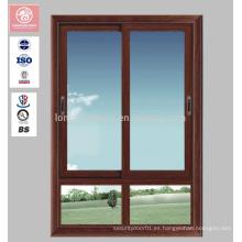 Vidrio doble moderno Vidrio Aluminuim que resbala ventanas del marco con descuento