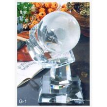 Bola de globo de cristal con el asimiento de la mano (zb-3808)