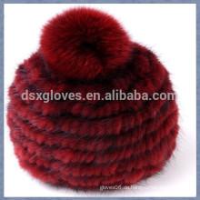 Red Mink Pelz Cap mit einem soliden Sphären