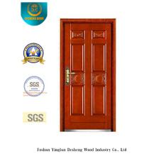 Puerta blindada de seguridad de estilo clásico con talla (b-6026)