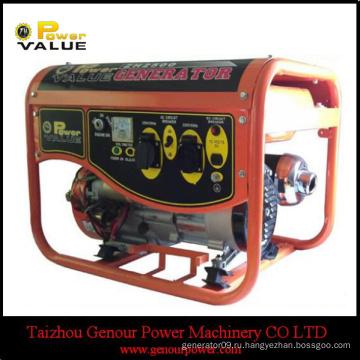 Silent China 2kva 220v Малый генератор для продажи с мотоциклетным глушителем