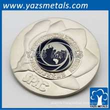 silver plated metal collectible souvenir coin