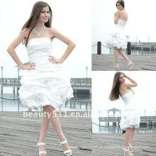 Astergarden foto real sin tirantes de tafetán vestido de cóctel blanco AS121