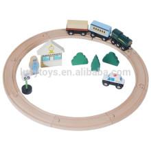Runde kleine klassische hölzerne Zug Spur Spielzeug