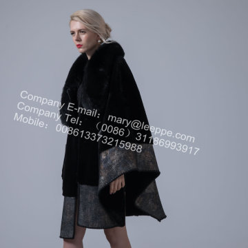 Cappotto in Australia Merino Shearling Cape per Lady