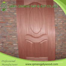 Cara de papel de melamina 3.2 y piel de puerta HDF moldeada de 4.2mm