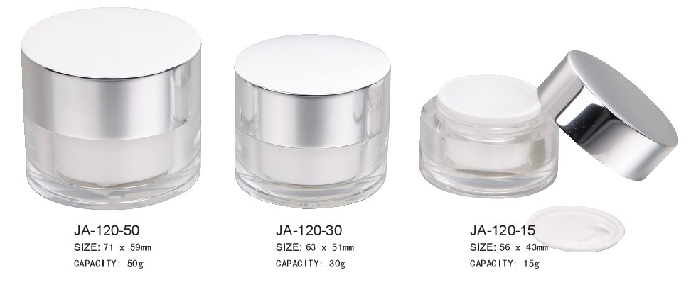 Cylindrical Acrylic Jar Cream Jar JA-120