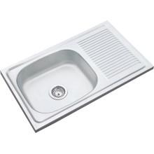Mittlerer Osten heiße Verkäufe 7545 einzelner Schüssel-einzelner Abfluss 75 * 45 * 14cm einzelner Schüssel-Edelstahl-Spülkasten-Spülbecken 750450