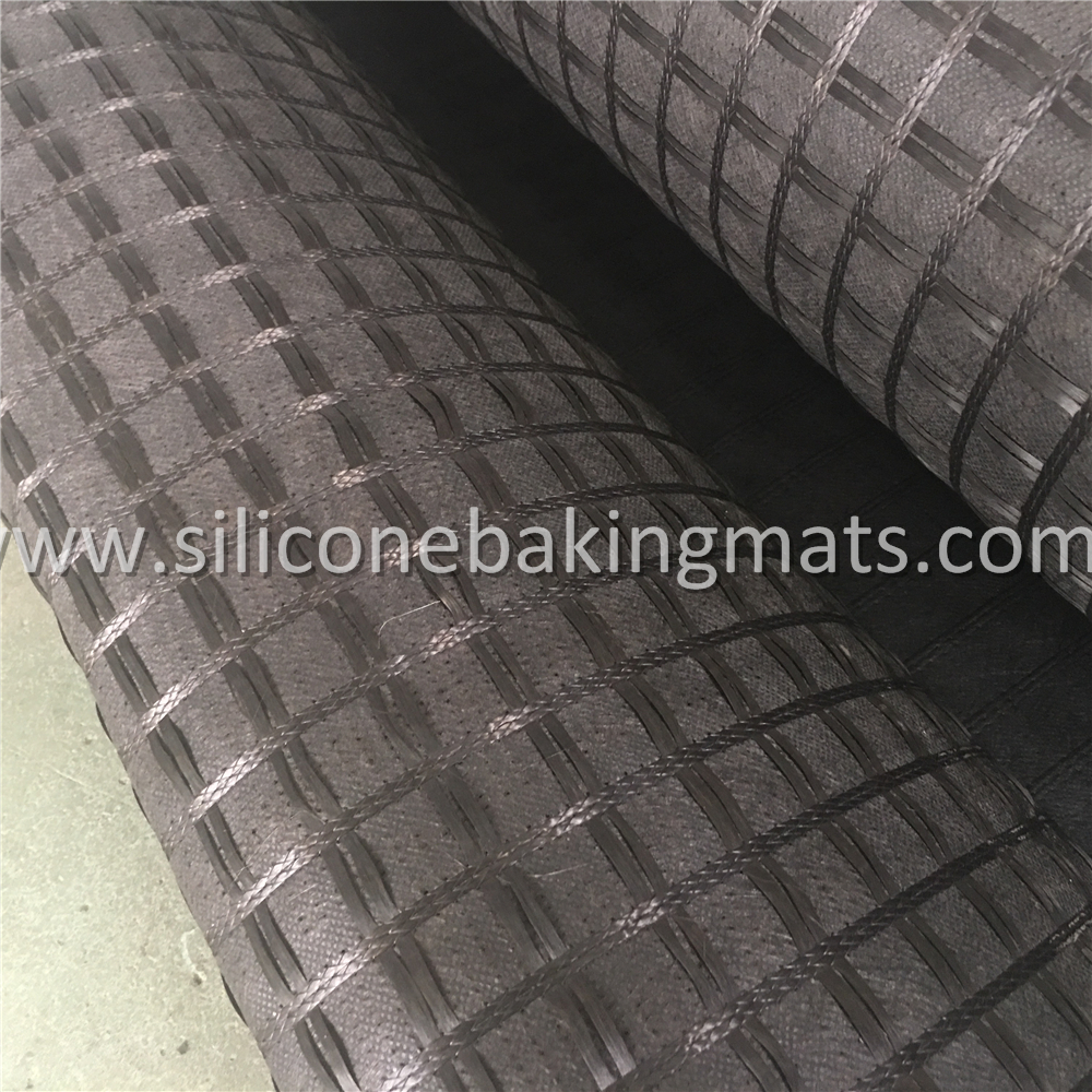 Asphalt Coated Fiberglass Geogrid Geocomposite