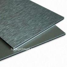 Открытый Небьющиеся PVDF и PE пленка, кисть и зеркало алюминиевая пластичная составная панель